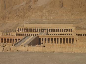 El-Deir El-Bahri - Closer View