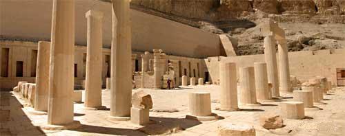 Pillars Outside El-Deir El-Bahri