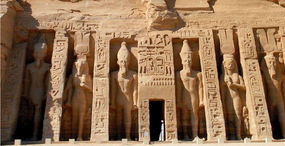 Temple of Queen Nefertari at Abu Simbel, Egypt